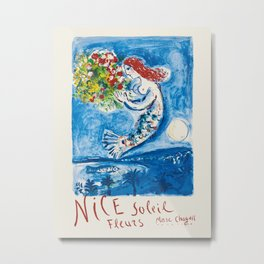 Nice - French travel poster by Marc Chagall, 1962 Metal Print