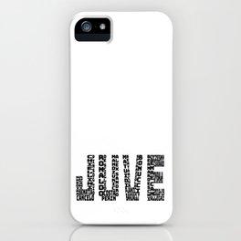 Juventus 2018-2019 - Black Text JUVE iPhone Case