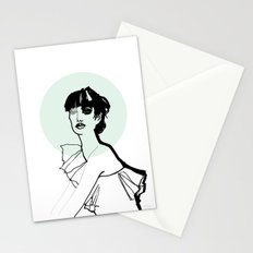 Green Nimbus Stationery Cards