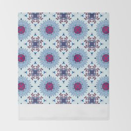 blue and red pattern Throw Blanket