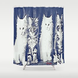 Ey , pay attention !! Shower Curtain