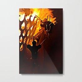 Flaming Mohawk Metal Print