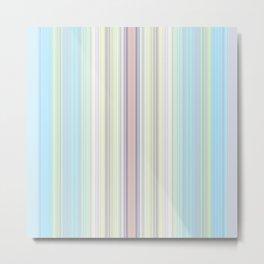 Babys Rainbow Stripe Design Metal Print