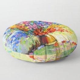 Bouquet of wild flowers Floor Pillow