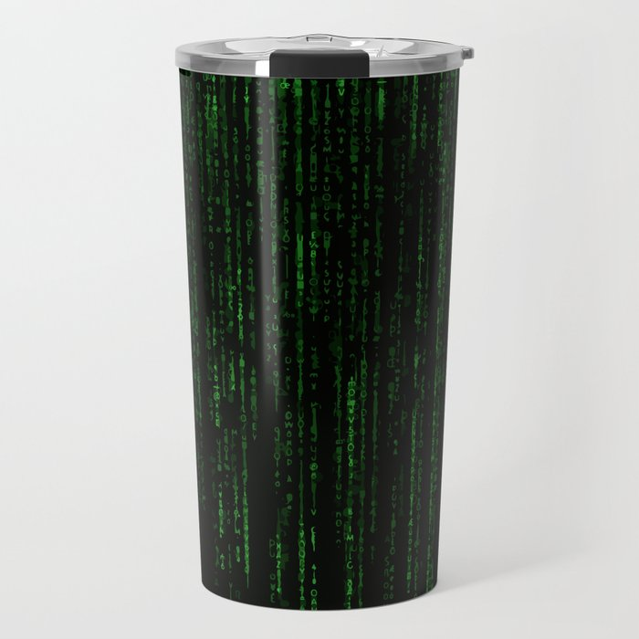 """film grain"" Matrix Travel Mug"