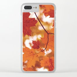 Fluttering from the Autumn tree Clear iPhone Case