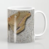 moth Mugs featuring Moth by Deb MacNeil