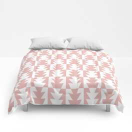 Art Deco Jagged Edge Pattern Dusty Rose Comforters