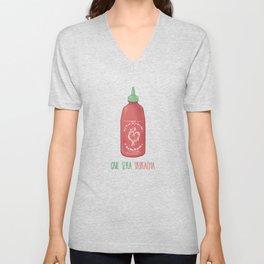 Que Sera Sriracha  Unisex V-Neck