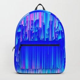 Neon Rain - A Digital Abstract Backpack