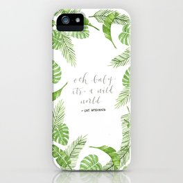 Jungle Print Wild World iPhone Case