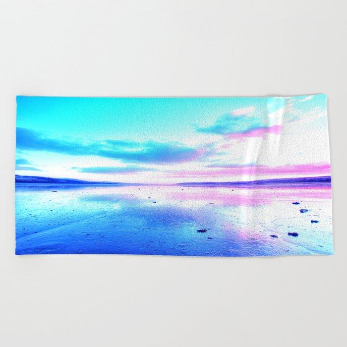 Bright Sunset Beach Beach Towel