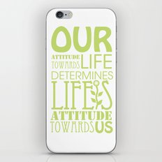 Life's Attitude iPhone & iPod Skin