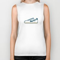 nike Biker Tanks featuring #55 Nike Cortez by Brownjames Prints