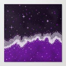 Ace Pride Flag Galaxy Canvas Print
