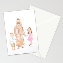 Jesus with Children Stationery Cards