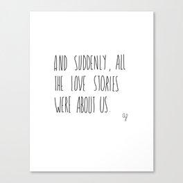 Love Story Canvas Print