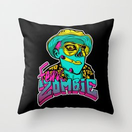 Fear the Zombie Throw Pillow