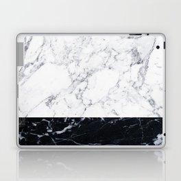 Marble Black & White Laptop & iPad Skin