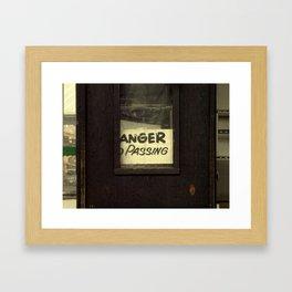 Anger Passing Framed Art Print