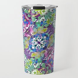 Colorful Modern Floral Print Travel Mug