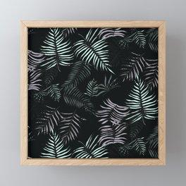 Farn Pattern Dark Framed Mini Art Print