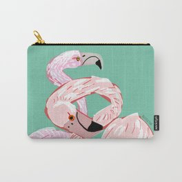 A flamingo never changes his Pink Carry-All Pouch