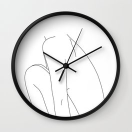 Nude figure line drawing illustration - Dyna Wall Clock