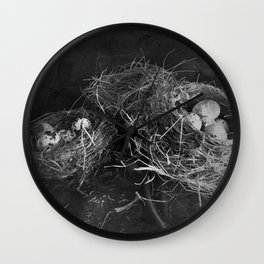 Three nests Wall Clock
