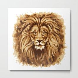 Royal Lion Metal Print
