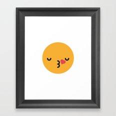 Emojis: Kiss Framed Art Print