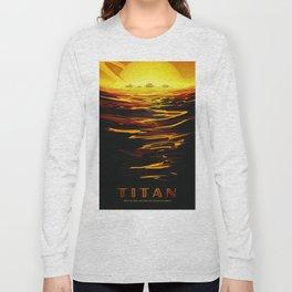 Titan : NASA Retro Solar System Travel Posters Long Sleeve T-shirt