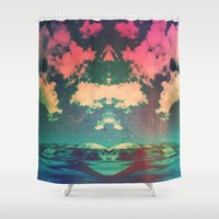 atlas Shower Curtains featuring Atlas by Polishpattern