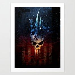 America Skull Art Print