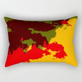 Ichika - Abstract Colorful Batik Camouflage Tie-Dye Style Pattern Rectangular Pillow