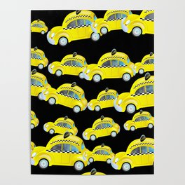 Yellow Taxi Cab Poster