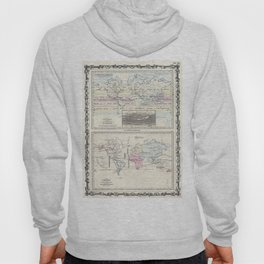 Vintage World Climate & Vegetation Map (1861) Hoody