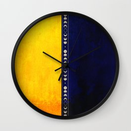 Golden Night Wall Clock