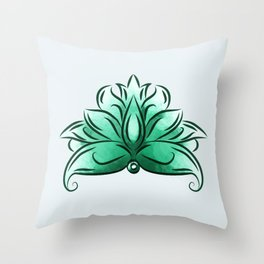 The mint loto Throw Pillow