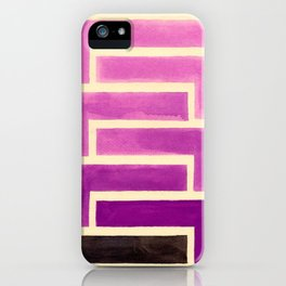 Purple Aztec Geometric Pattern iPhone Case