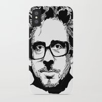 tim burton iPhone & iPod Cases featuring Tim Burton in colors by burro by BURRO