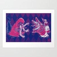 Sandworm vs. Tremor Art Print