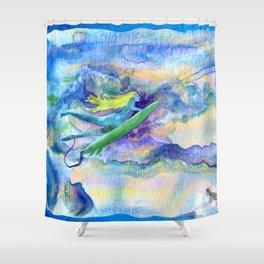 DUCK DIVE Shower Curtain