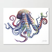 octopus Canvas Prints featuring Octopus by Sam Nagel
