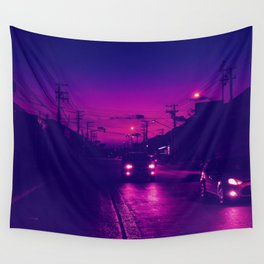 80s Sunset Wall Tapestry