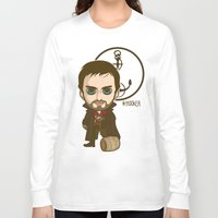 captain hook Long Sleeve T-shirts featuring Captain Hook by Samtronika