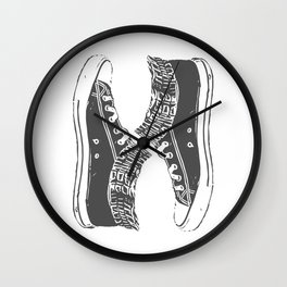 """Fashion Modern Design Print """"Sneakers""""! Hip hop gangster style Wall Clock"""