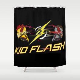 Kid Flash Shower Curtain