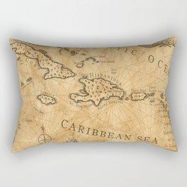Old Nautical Map Carribeans Rectangular Pillow