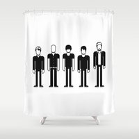 radiohead Shower Curtains featuring Radiohead by Band Land